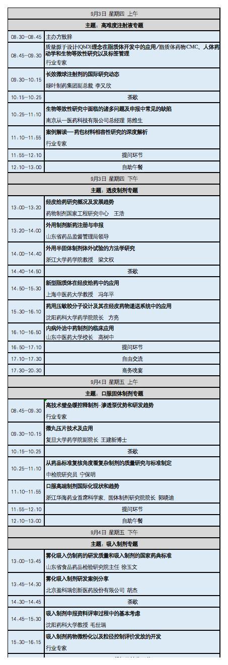 2020中國藥物前沿技術--特殊制劑峰會