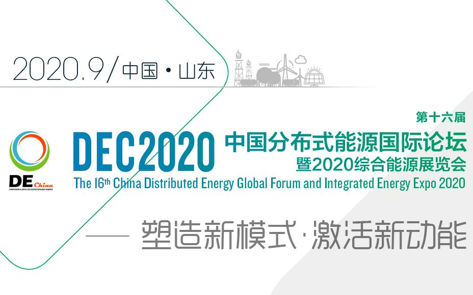 第十六届中国分布式能源国际论坛暨2020综合能源展览会