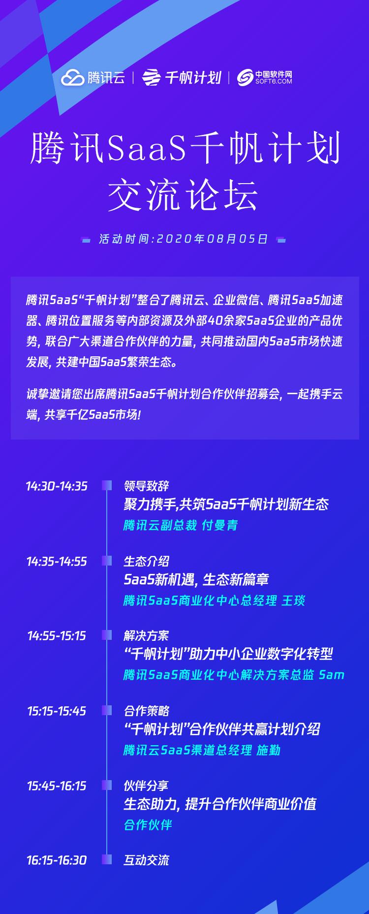 腾讯SaaS千帆计划交流论坛