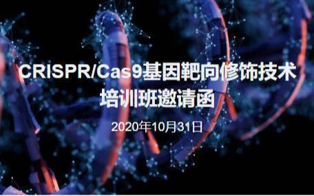 CRISPR/Cas9基因靶向修饰技术培训班