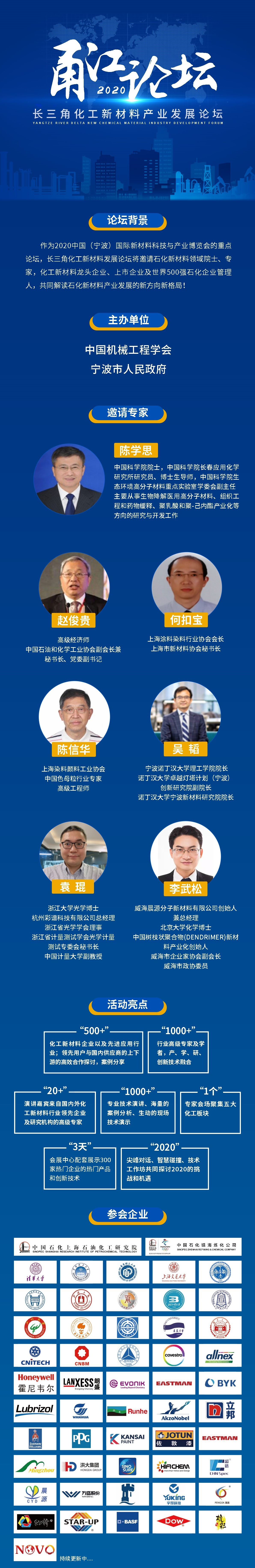 2020中国(宁波)国际新材料科技与产业博览会(2002甬江论坛长三角化工新材料产业发展论坛)