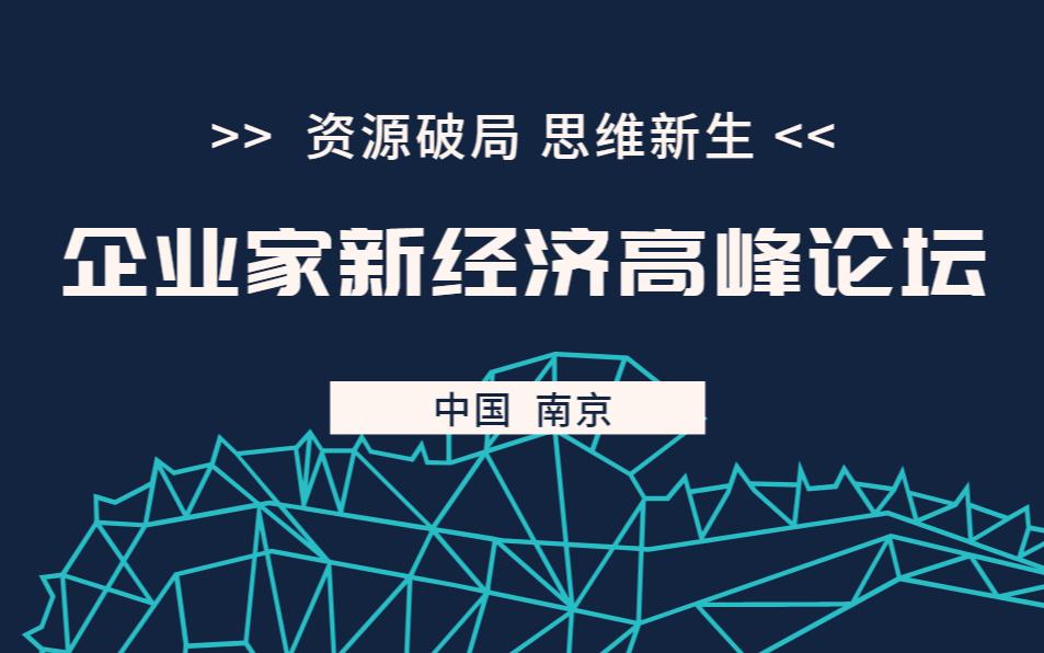 企業家新經濟高峰論壇-南京站