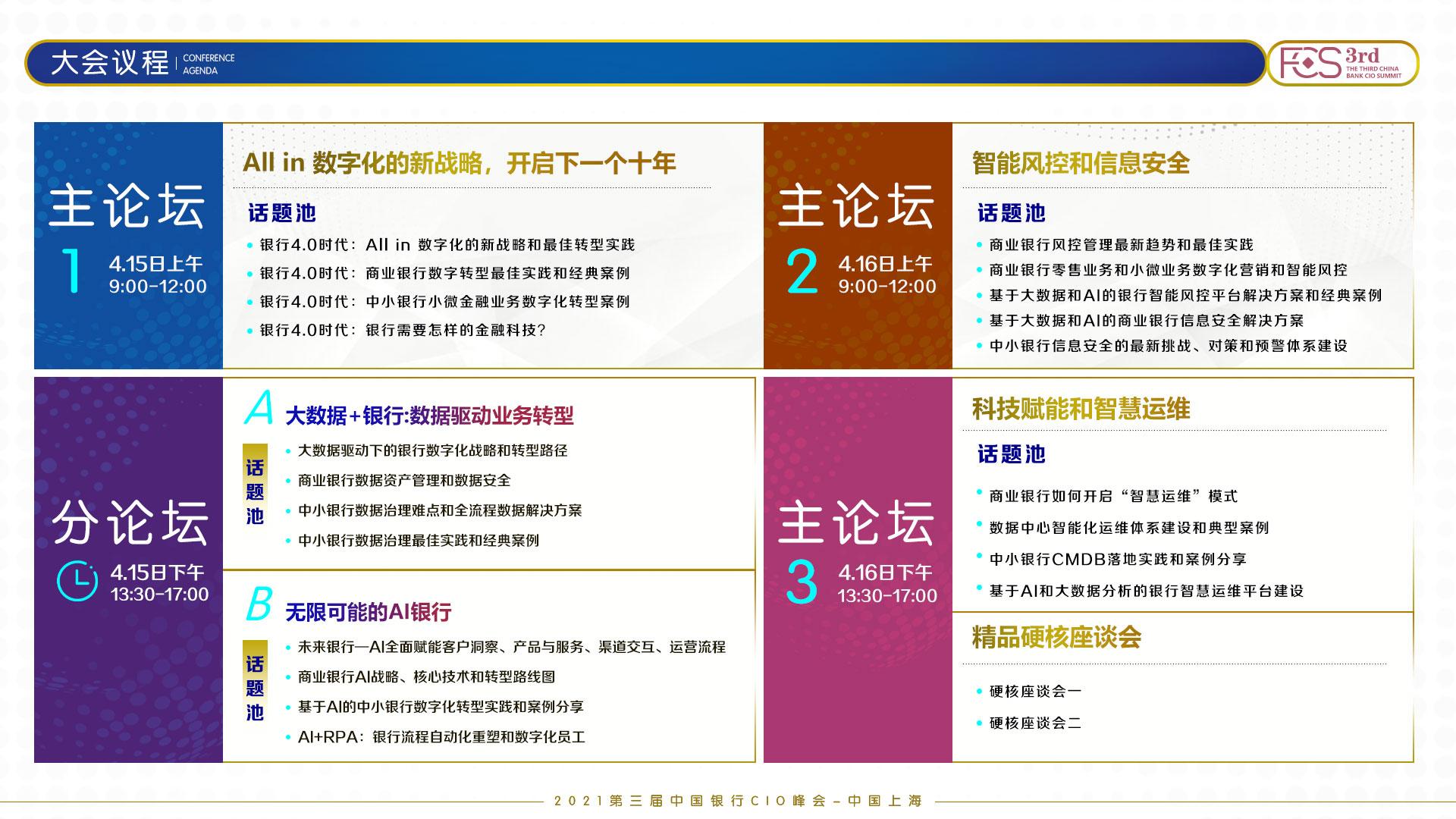 FCS 2021第三届中国银行CIO峰会