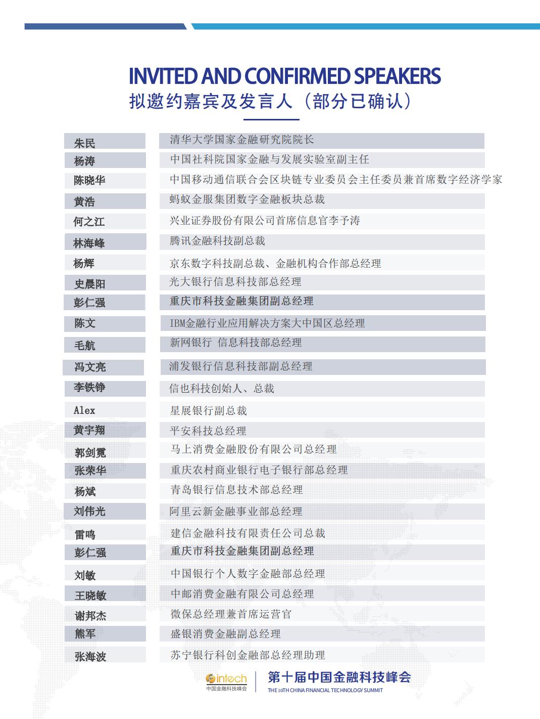 第十届中国金融科技峰会