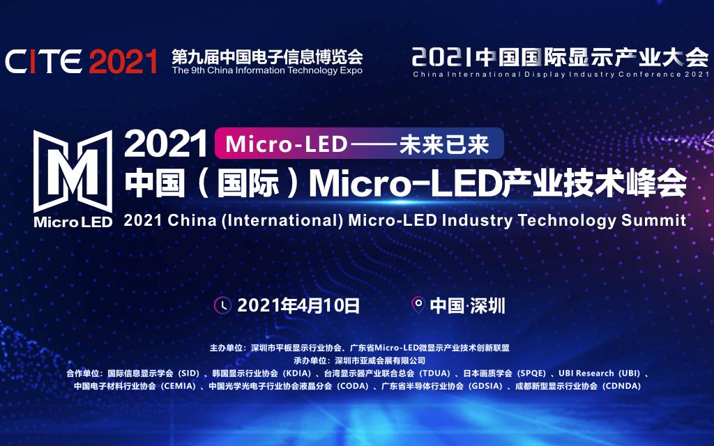 2021中国(国际)Micro-LED 产业技术峰会