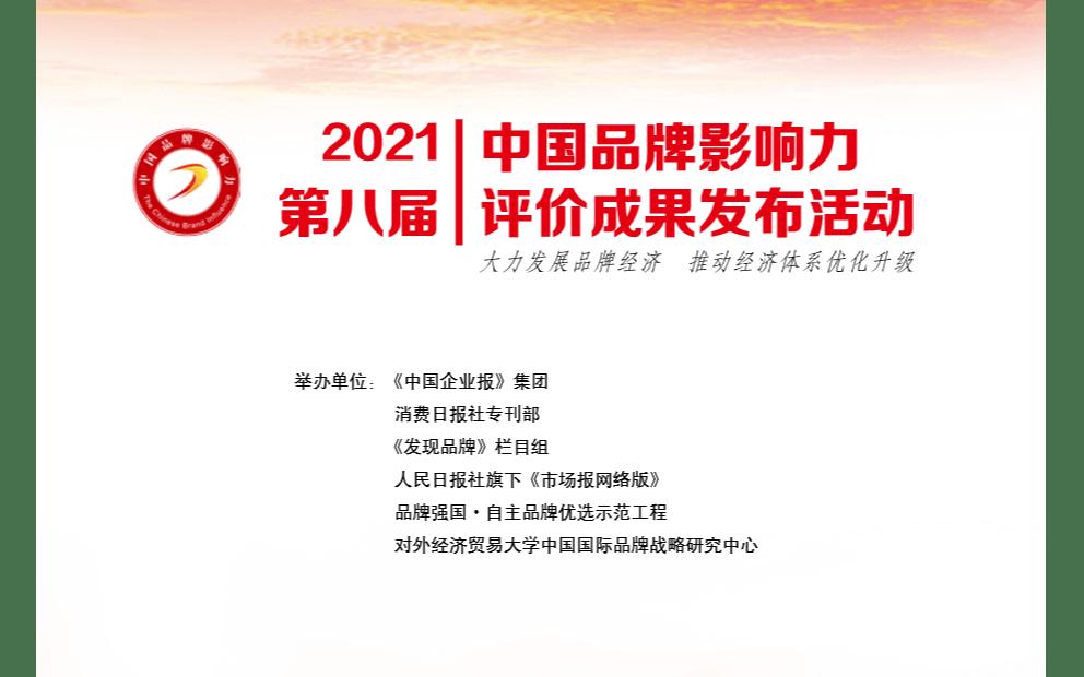 2021 第八届 中国品牌影响力 评价成果发布活动