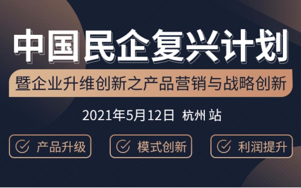 中国民企复兴计划暨企业升维创新之产品营销与战略创新