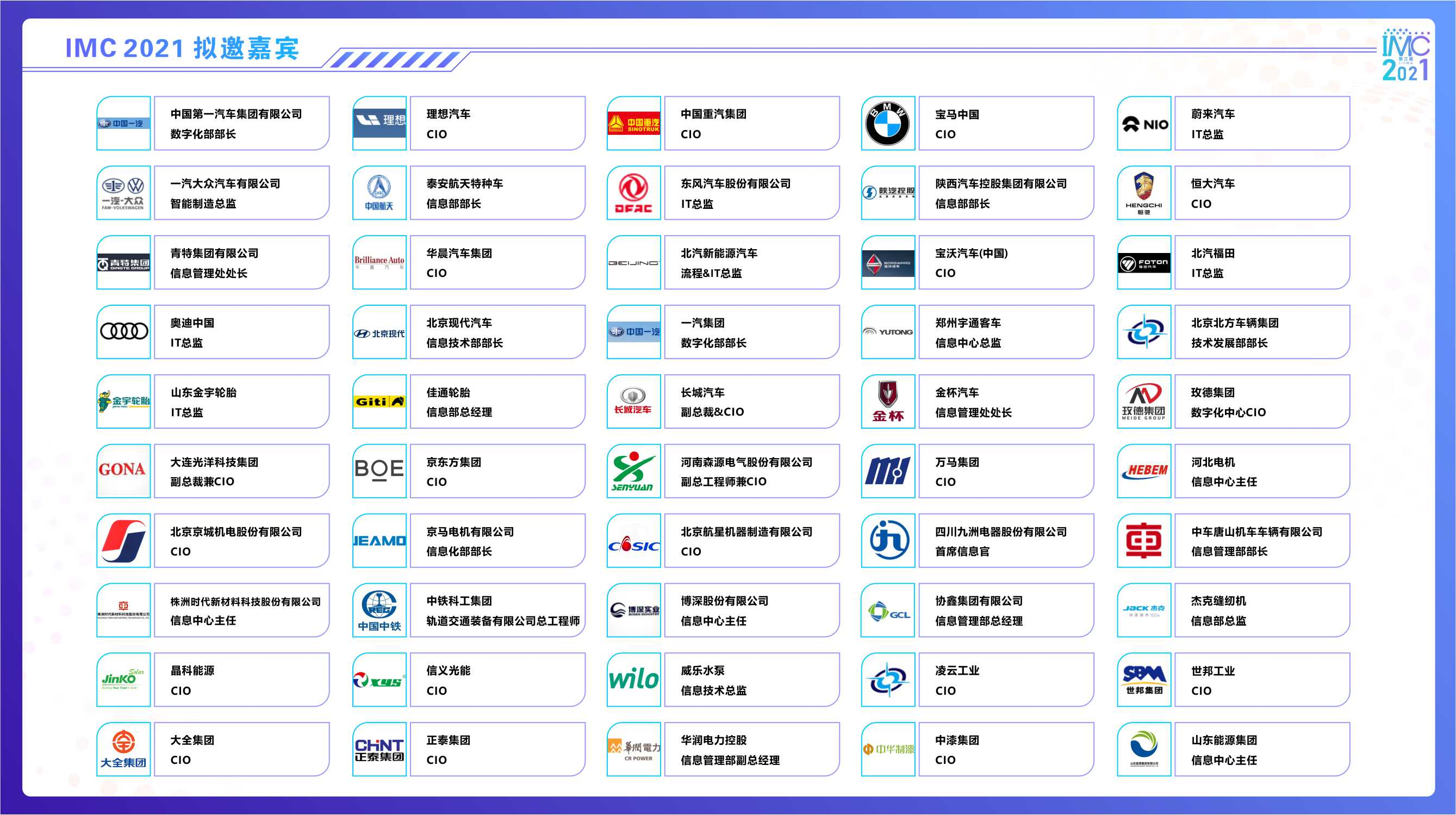 IMC 2021中国智造CIO峰会(华北)