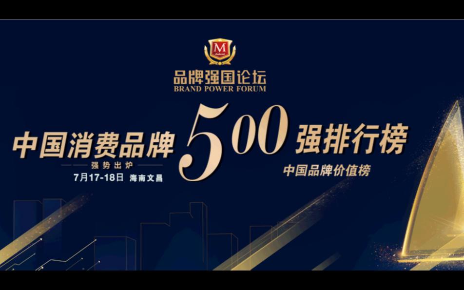 品牌强国论坛文昌 2021中国消费品牌500强榜单