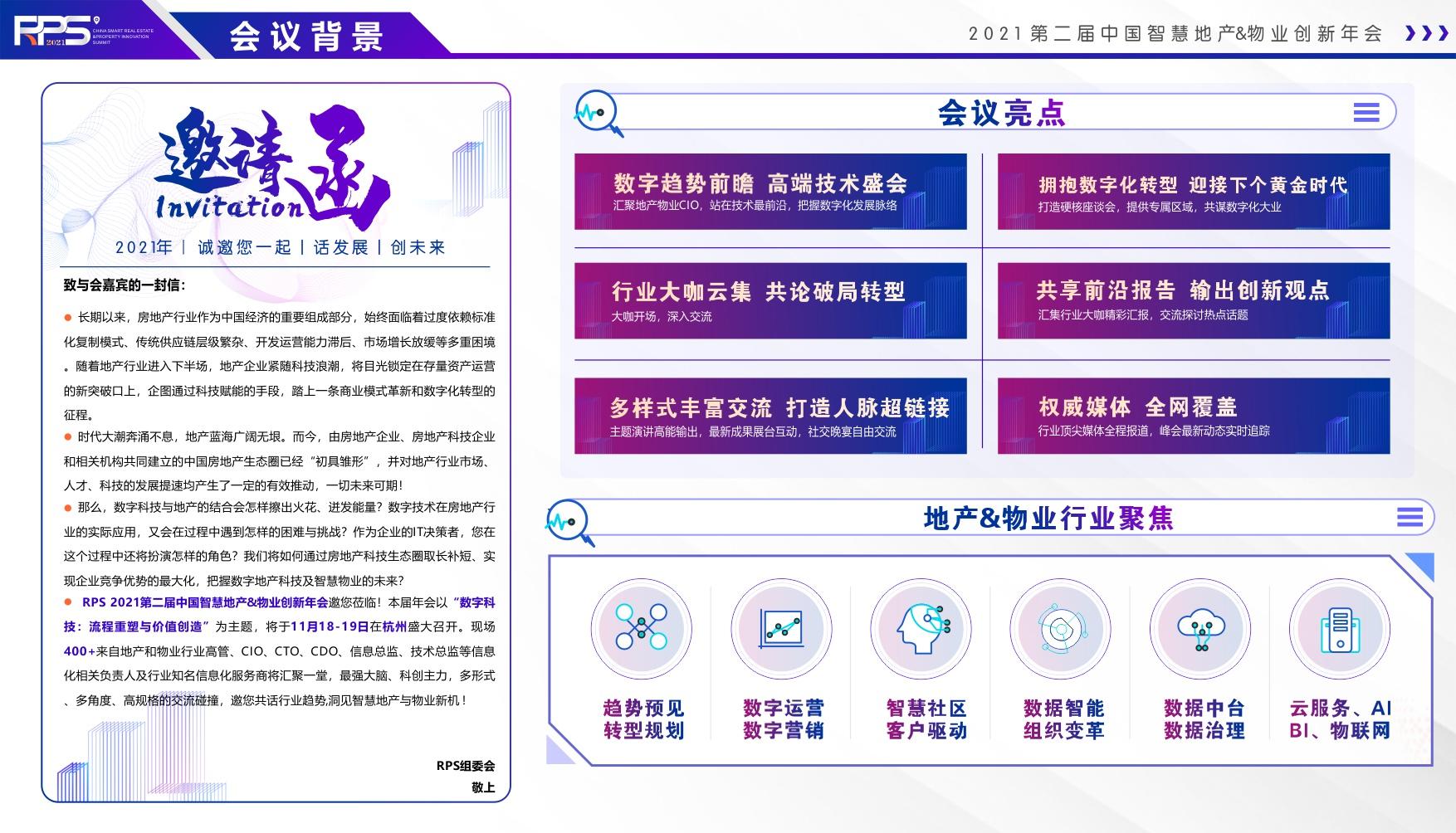 RPS 2021第二届中国智慧地产&物业创新年会