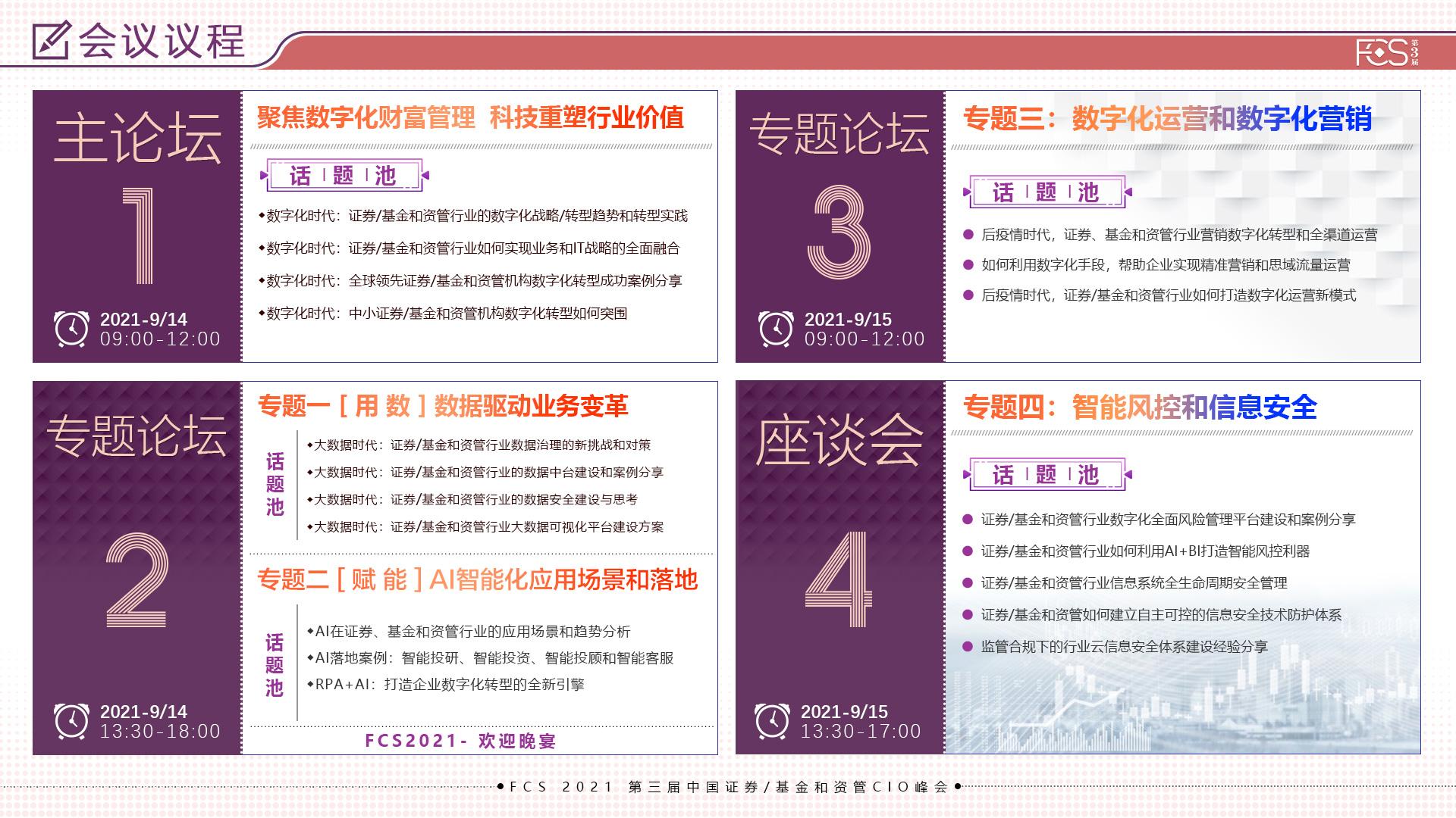 FCS 2021第三屆中國證券基金和資管CIO峰會