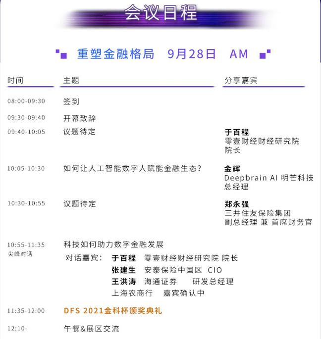 DFS2021第二届数字金融峰会