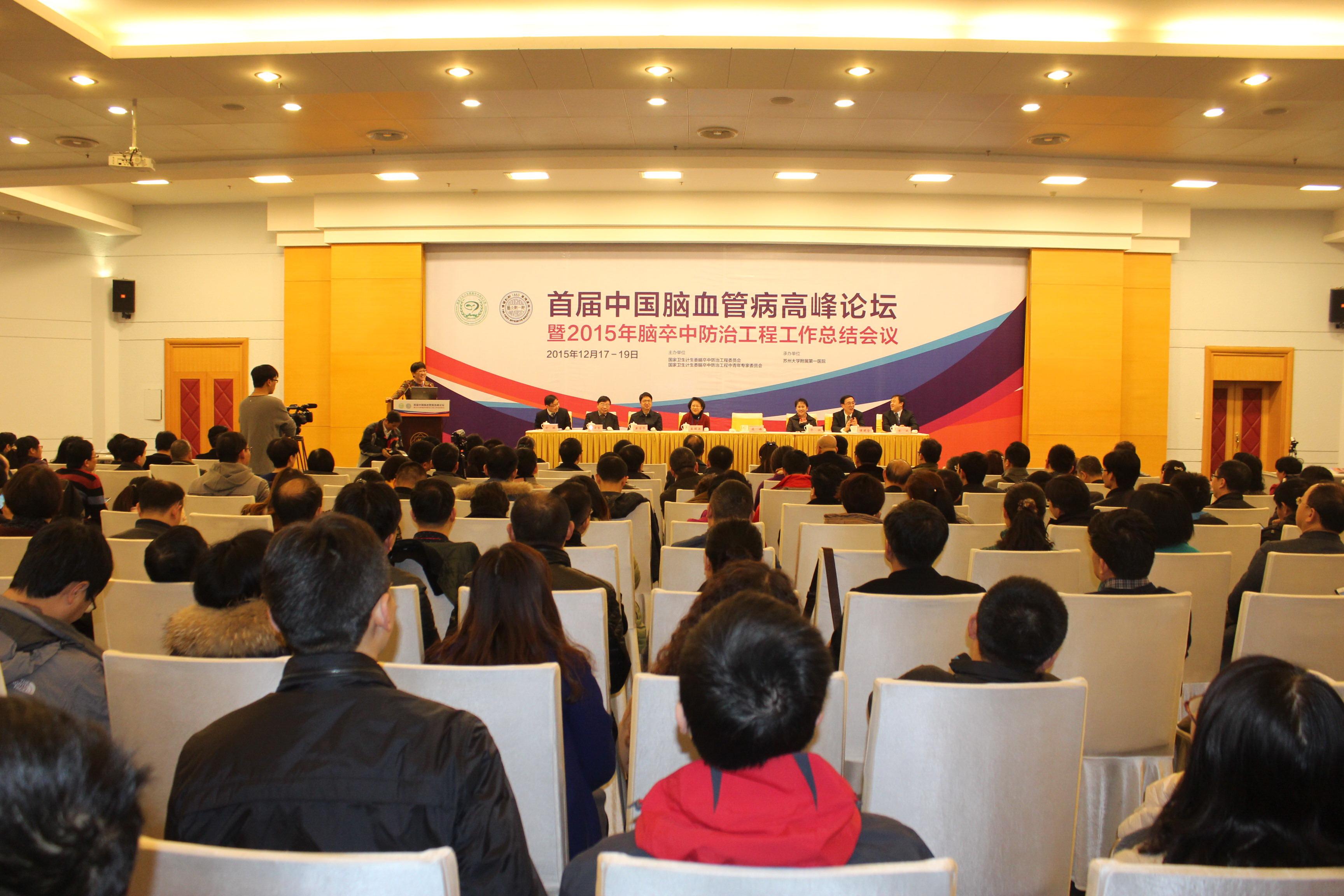 首届中国脑血管病高峰论坛现场图片