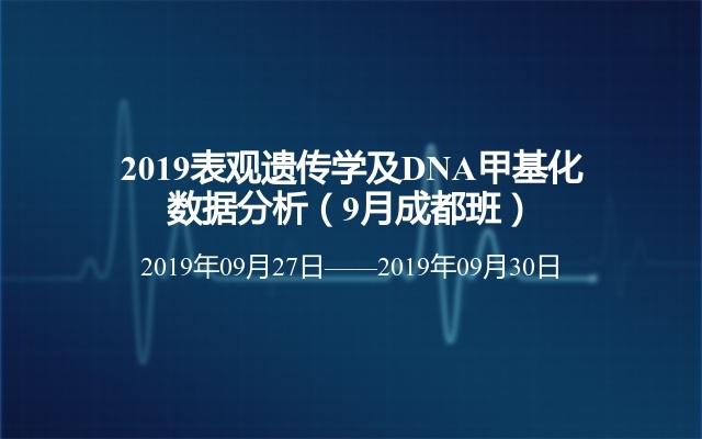 2019表观遗传学及DNA甲基化数据分析(9月成都班)