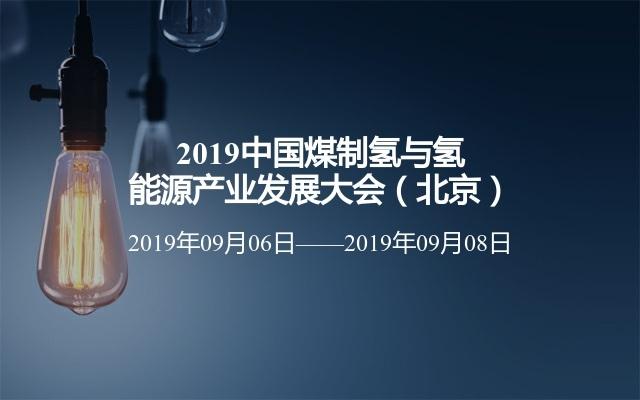 2019中国煤制氢与氢能源产业发展大会(北京)