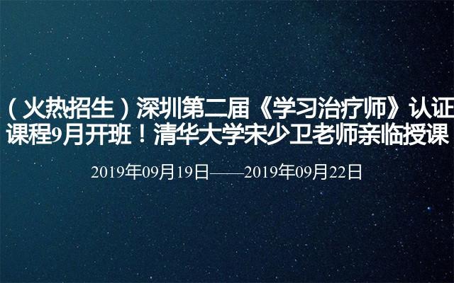 2019深圳第二届《学习治疗师》认证课程9月培训班
