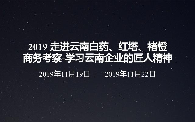 2019 走进云南白药、红塔、褚橙商务考察-学习云南11选5的匠人精神