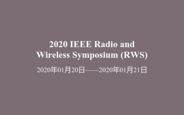 2020 IEEE Radio and Wireless Symposium(RWS)