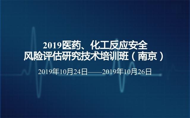 2019医药、化工反应安全风险评估研究技术培训班(南京)