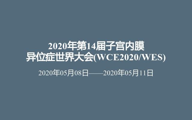 2020年第14届子宫内膜异位症世界大会(WCE2020/WES)
