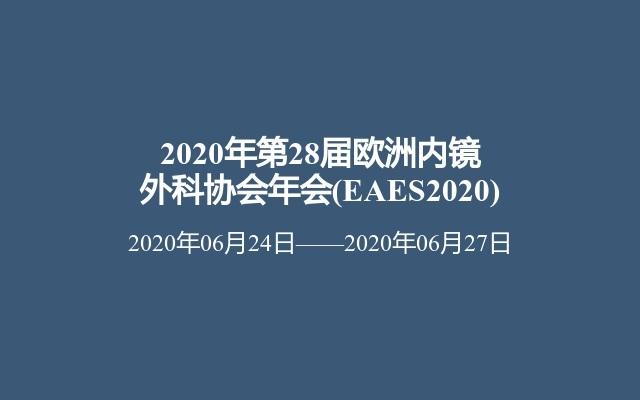 2020年第28届欧洲内镜外科协会年会(EAES2020)