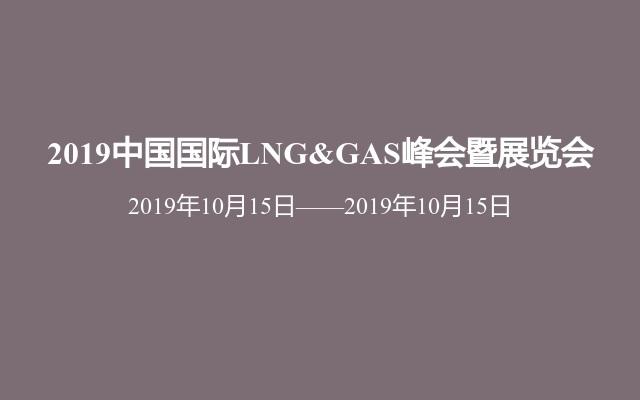 2019中国国际LNG&GAS峰会暨展览会