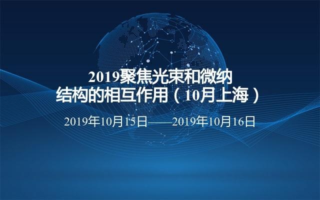 2019聚焦光束和微纳结构的相互作用(10月上海)