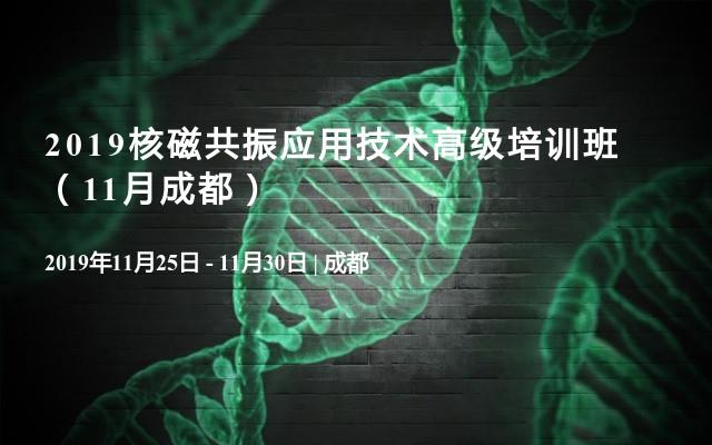 2019核磁共振应用技术高级培训班(11月成都)