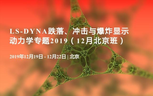 LS-DYNA跌落、冲击与爆炸显示动力学专题2019(12月北京班)