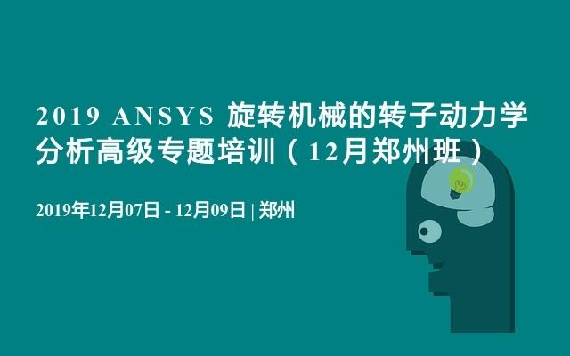 2019 ANSYS 旋轉機械的轉子動力學分析高級專題培訓(12月鄭州班)