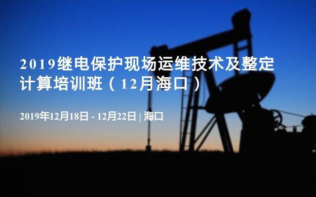 2019继电保护现场运维技术及整定计算培训班(12月海口)